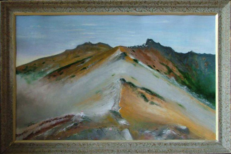 malarstwo akrylowe olejne obrazy galeria ilustracje pejzaz gory tatry czerwone wierchy