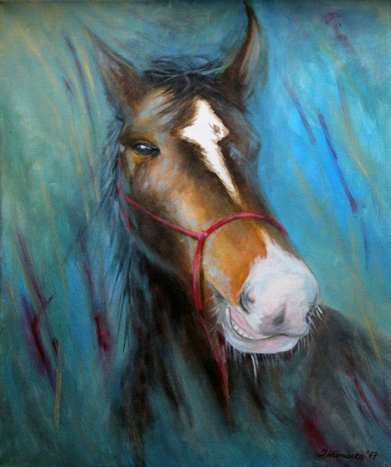 malarstwo akrylowe olejne koń konie obrazy galeria ilustracje dla dzieci