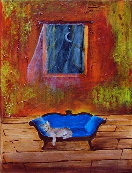 malarstwo akrylowe olejne obrazy galeria ilustracje dla dzieci ilustrator kot kotek koty