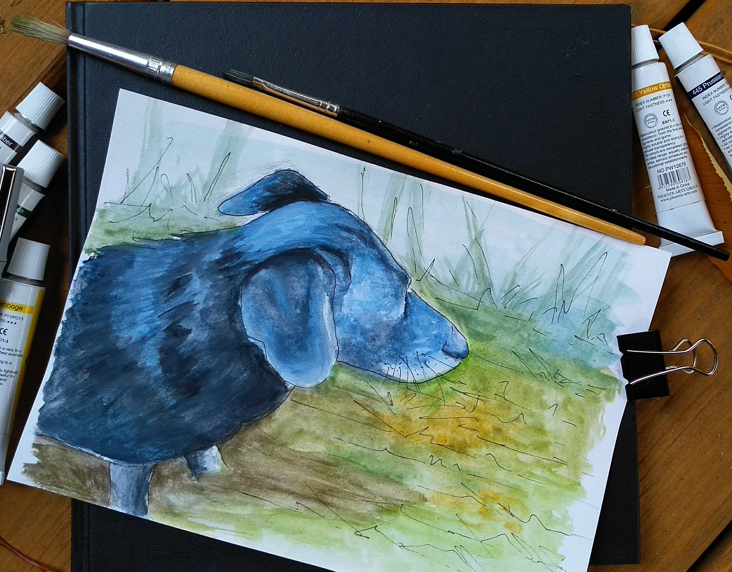 malarstwo akrylowe olejne obrazy galeria ilustracje dla dzieci ilustrator pies psy piesek akwarela akwarele