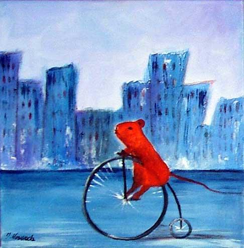 malarstwo akrylowe olejne obrazy galeria ilustracje dla dzieci ilustrator myszka