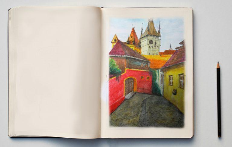 malarstwo akrylowe olejne obrazy galeria ilustracje dla dzieci ilustrator akwarela akwarele rumunia Sighisoara