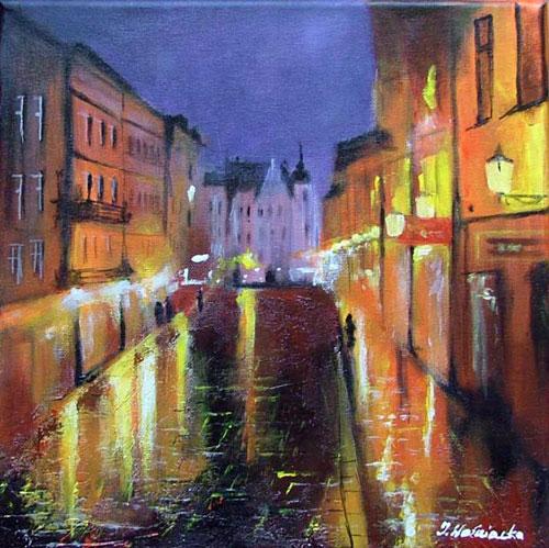 malarstwo akrylowe olejne obrazy galeria ilustracje pejzaz miasto torun