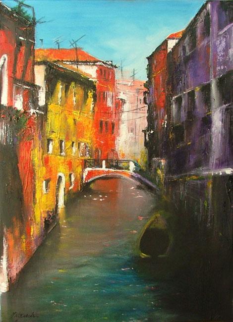 malarstwo akrylowe olejne obrazy galeria ilustracje pejzaz miasto wenecja