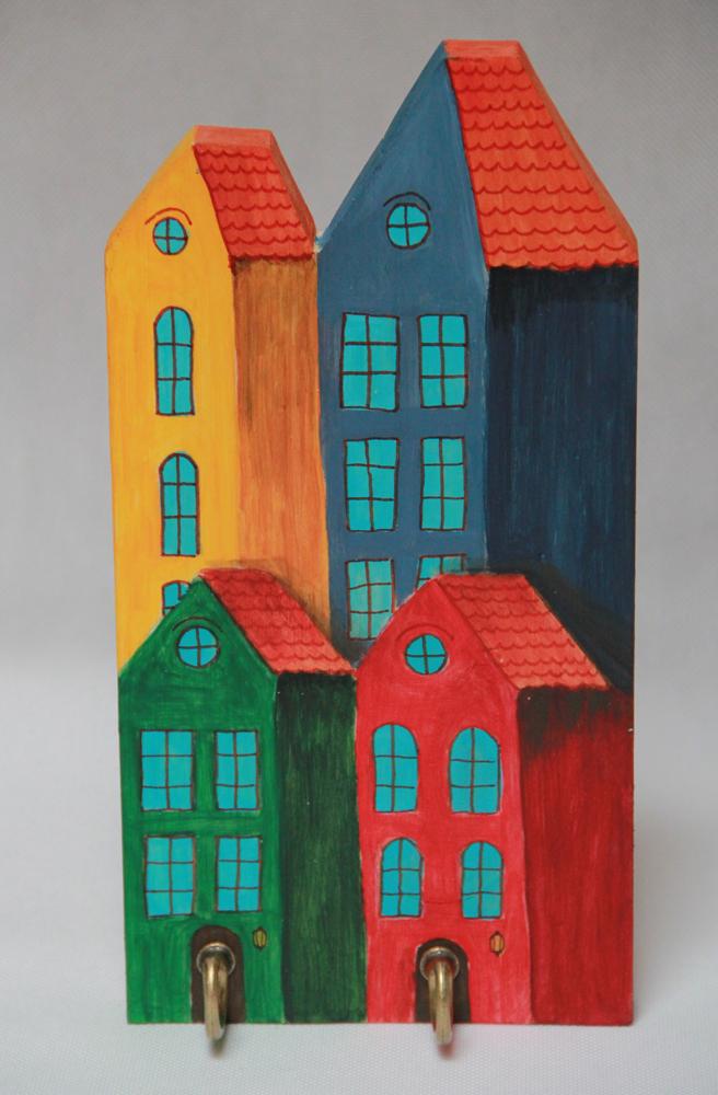 rękodzieło handmade wieszak dla dzieci ilustracja