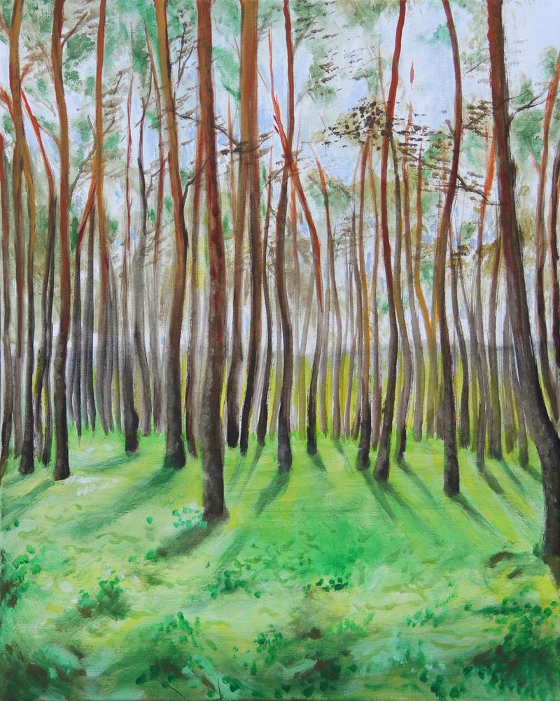 malarstwo, obrazy, pejzaż, las, handmade, sklep