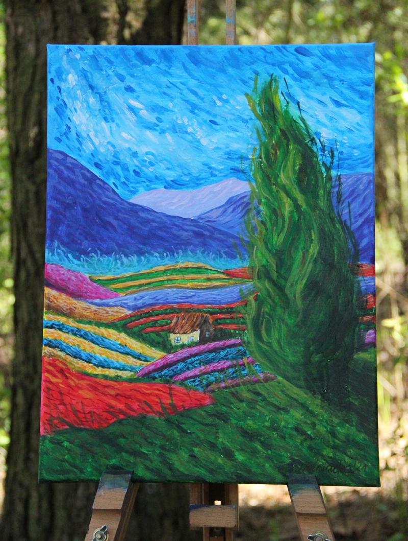 malarstwo, obrazy, pejzaż, impresjonizm, handmade, sklep, impresja